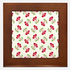 Cherries Pattern Framed Tile