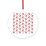 Cherries Pattern Ornament (Round)