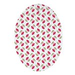 Cherries Pattern Oval Ornament