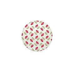 Cherries Pattern Mini Button