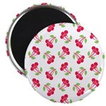 "Cherries Pattern 2.25"" Magnet (10 pack)"