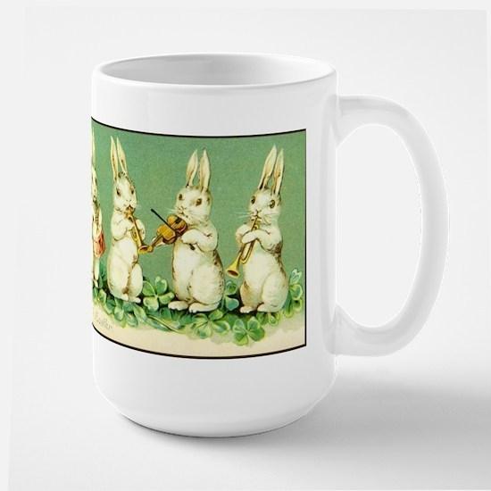 Vintage Musical Easter Bunnies Large Mug Mugs