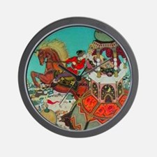 Russian Fairy Tale - Ivan and Chestnut Wall Clock