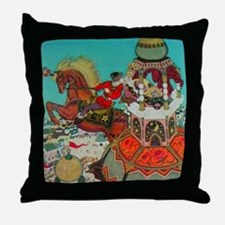 Russian Fairy Tale - Ivan and Chestnu Throw Pillow
