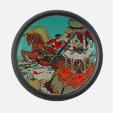 Russian Fairy Tale - Ivan and Che Large Wall Clock