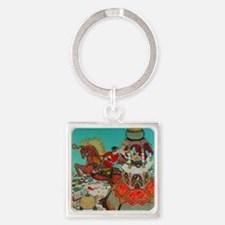 Russian Fairy Tale - Ivan and Ches Square Keychain