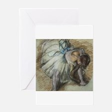 Degas ballet art Greeting Cards