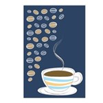Retro Coffee Art Postcards (Package of 8)