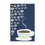 Retro Coffee Art Mini Poster Print