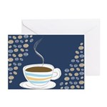 Retro Coffee Art Greeting Cards (Pk of 10)