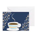 Retro Coffee Art Greeting Card