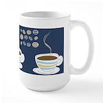 Retro Coffee Art Large Mug (15 oz)