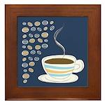 Retro Coffee Art Framed Tile