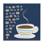 Retro Coffee Art Tile Drink Coaster