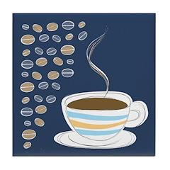 Retro Coffee Art Tile Drink Coaster