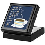Retro Coffee Art Keepsake Box
