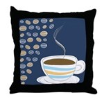 Retro Coffee Art Throw Pillow