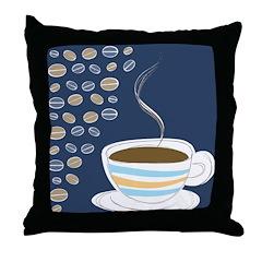 Retro Coffee Art Throw Pillow