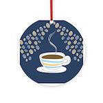 Retro Coffee Art Ornament (Round)