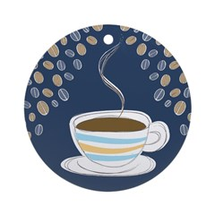 Retro Coffee Art Ornament (Round)