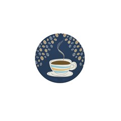 Retro Coffee Art Mini Button