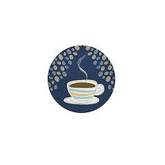 Retro Coffee Art Mini Button