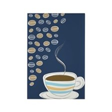 Retro Coffee Art Rectangle Magnet