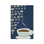 Retro Coffee Art Rectangle Magnet (100 pack)