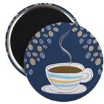 Retro Coffee Art Magnet