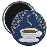 "Retro Coffee Art 2.25"" Magnet (10 pack)"