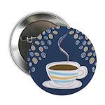 Retro Coffee Art Button