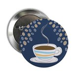 "Retro Coffee Art 2.25"" Button (10 pack)"