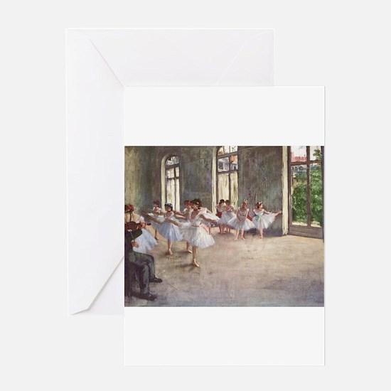 Degas ballet art Greeting Cards