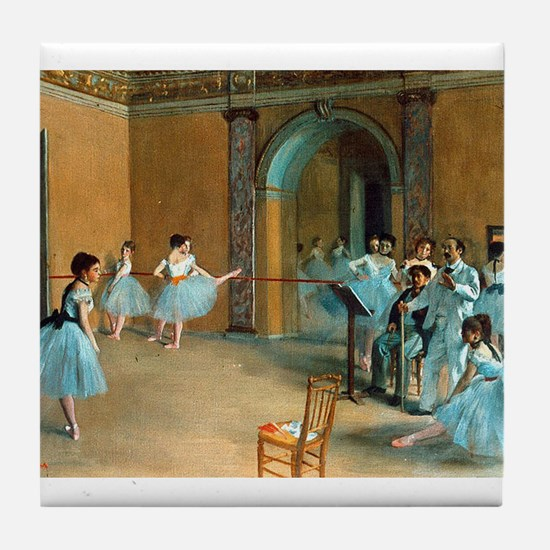 Degas ballet art Tile Coaster