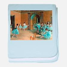 Degas ballet art baby blanket