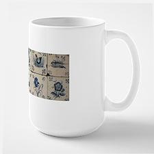 Antique Tile Art Grid Mug