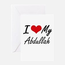 I Love My Abdullah Greeting Cards
