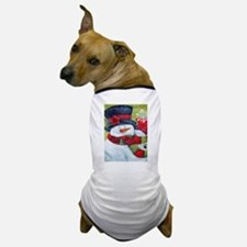 Snowman with Scarf Dog T-Shirt