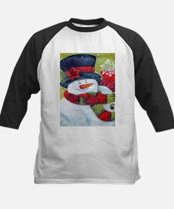 Snowman with Scarf Baseball Jersey