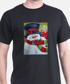 Snowman with Scarf T-Shirt