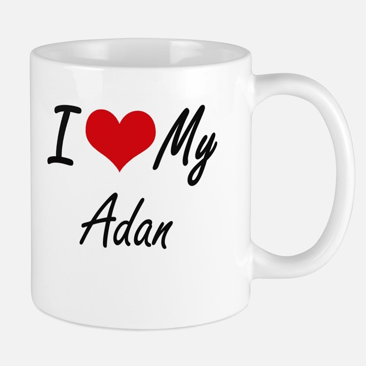 I Love My Adan Mugs