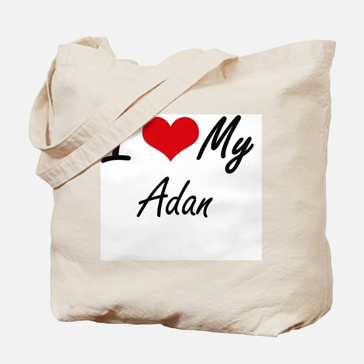 I Love My Adan Tote Bag