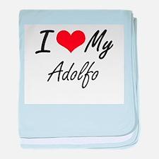 I Love My Adolfo baby blanket