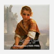 Cute Blonde girl Tile Coaster