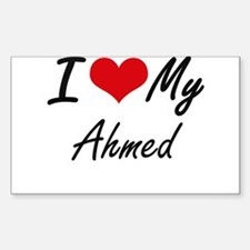 I Love My Ahmed Decal