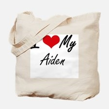 I Love My Aiden Tote Bag