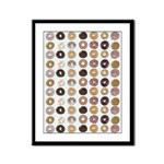 Lots of Donuts Framed Panel Print
