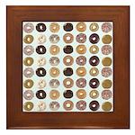 Lots of Donuts Framed Tile