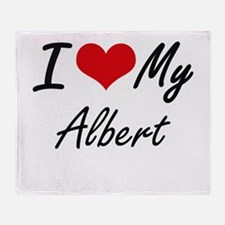 I Love My Albert Throw Blanket