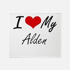 I Love My Alden Throw Blanket